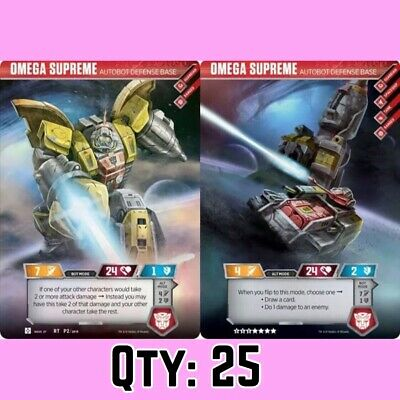 (Qty: 25) Rare Omega Supreme Autobot Transformers Trading Card Exclusive TCG