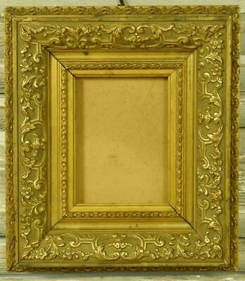 Gorgeous Little Antique French Gilded Gesso On Wood Picture Frame With History