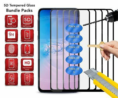 [PACKS] 5D Tempered Glass Screen Protector for Samsung Galaxy A20 (2019) Black