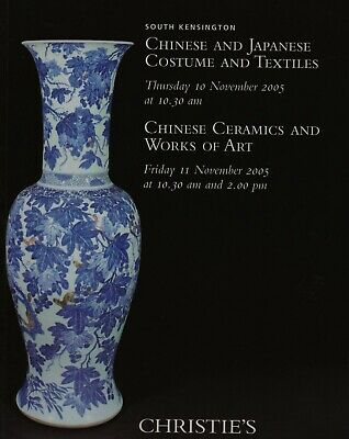 Chinese & Japanese Ceramics  Works Of Art Costumes Textiles Auction Catalogue