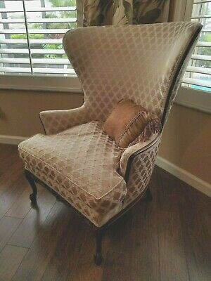 Antique Mahogany Wing Chair