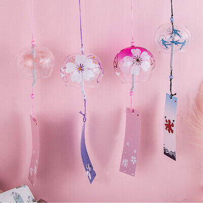 Japanese Style Simple Wind Chime Glass Room Hanging Decor Garden Home Ornament