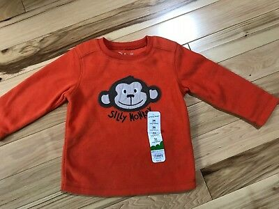NWT SILLY MONKEY Soft Fleece Pullover Top Sz 24 Months by JUMPING BEANS
