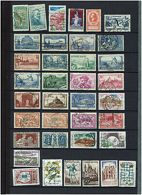 French Stockbook page of stamps from a world collection