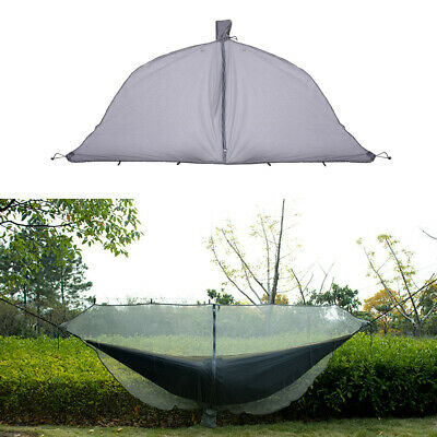 Double Outdoor Person Travel Camping Hanging Hammock Bed W/Mosquito Net Set