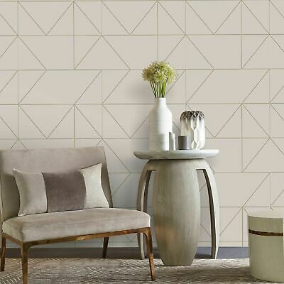 Kelly Hoppen For Graham Brown Wallpaper Geo Taupe Khaki