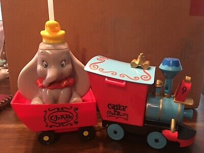Disney Parks Casey Jr Train Popcorn Bucket & Dumbo Sipper Cup With Whistle