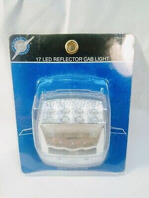 United Pacific 39528 Square Reflector Amber LED Cab Light with Clear Lens