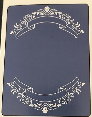 #484 Sizzix Embossing Folder Cuttlebug Compatible Banners & Blooms