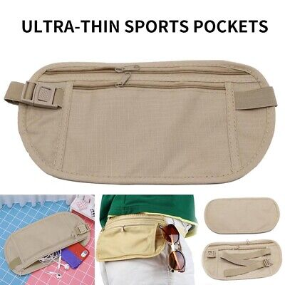 Travel Waist Pouch Passport Security Bag Money Belt Secure Ticket Card Wallet