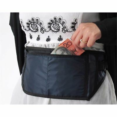 2x Travel Money Belt Security Waist Pouch Passport Credit Card Wallet Bum Bag