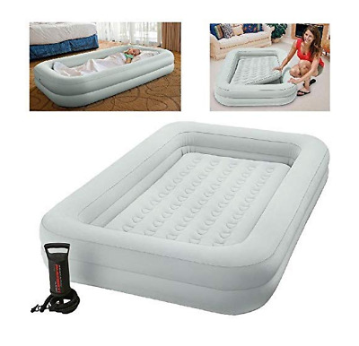 Home Kids Soft Frame Travel Cot Bed Inflatable Mattress Air Bed with Hand Pump