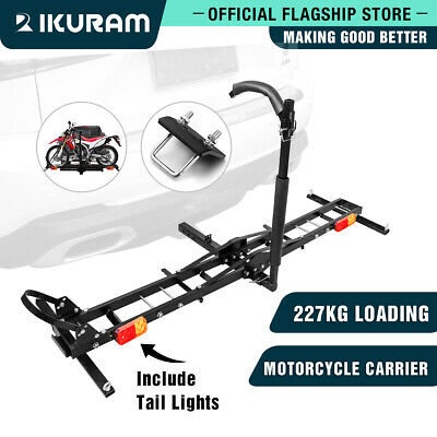 "IKURAM Motorcycle Carrier Motorbike Rack Rack 2"" Towbar 2 Arms Dirt Ramp Steel"