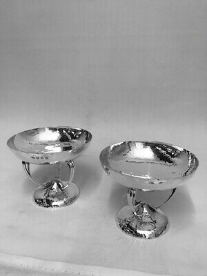 PAIR OF ART NOUVEAU SILVER DISHES - GLASGOW - 1904 by John Alexander Fettes