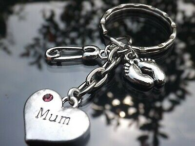 Dad & Mum to be Pregnancy Charm Keyrings - Baby Shower Gift