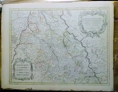 Rare Antique map Sanson Germany 17th/18th cent. Jaillot French Rhine Maas Europe