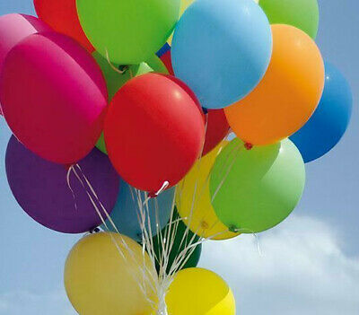 """100 X Latex Helium Air 10 Inch Balloons Event Party Decor 10"""" Balloons"""