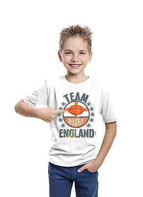 Team England Boys & Girls Rugby T-Shirt Six 6 Nations Kids English Shirt Top