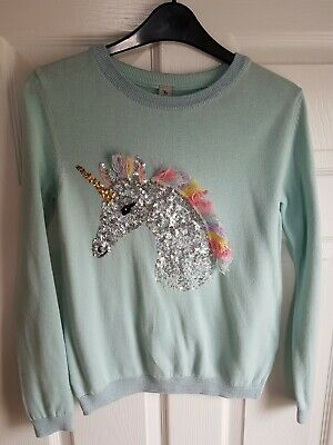Girls Sparly Unicorn Jumper Age 12 Years. Sainsburys, ## worn once ##