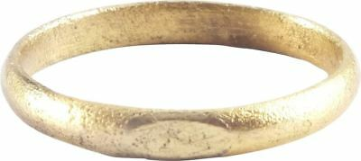 ANCIENT VIKING WEDDING RING NORSE WARRIOR BAND C.850-1050 AD Size 8. 18.7mm