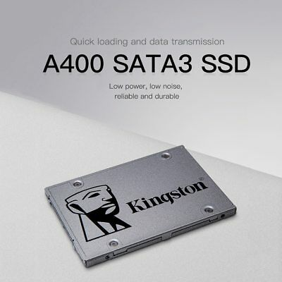Hard Disk Interno Kingston Ssd A400 120Gb/240Gb/480G Sata3 2,5 R/W 500/320 Mbs/S