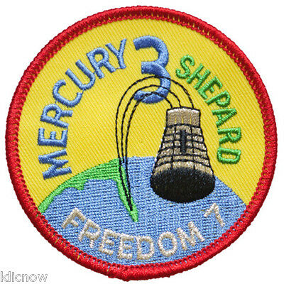 Mercury 3 Mission Embroidered Patch (Official Patch) 7.5cm Dia approx
