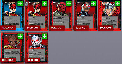 Topps Marvel Collect Card Trader Marvel 101 Wave 2 Set of 5 w/ both Awards