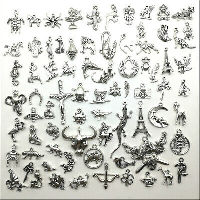 Wholesale Antique Silver Charms Pendants Carfts Jewelry Finding DIY 101 Styles