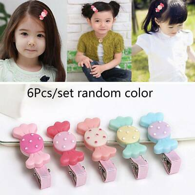 6Pcs/Lot Cute Candy Kids Hair Clips Good Gift Baby Attractive hair Accessories