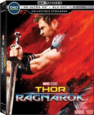 Thor: Ragnarok - Exclusive SteelBook  [4K + Blu-ray] New!!