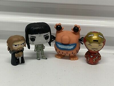 Lot Of 4 Funko Pop Dorbz Mystery Mini Real Monsters Game thrones Mummy Iron Man