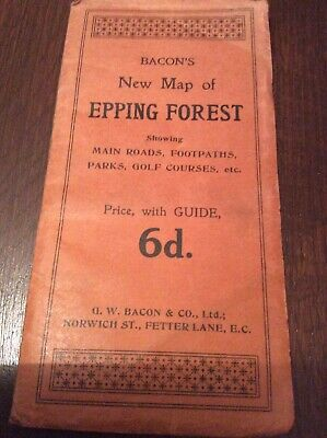 Bacons New Map Of Epping Forest