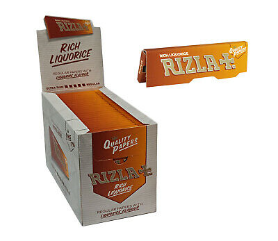 Full Box of 100 Booklets Rizla Liquorice Rolling Cigarette Papers Free P&P