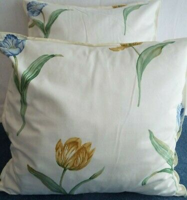 £10.00 For A Pair Of 24 Inch Extra Large Giant Cushions  Gold,Blue And Green