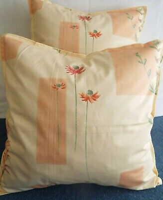 £10.00  For A Pair Of 24 Inch Extra Large Giant Cushions  Peach And Green