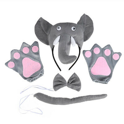 5pcs Party Costume Adorable Cartoon Cloth Elephant Party Supplies for Halloween