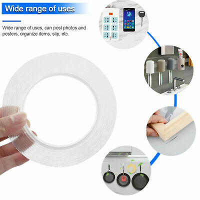 Reusable Clear Double Sided Adhesive Glue Tapes Home Desktop Storage Wall Stick