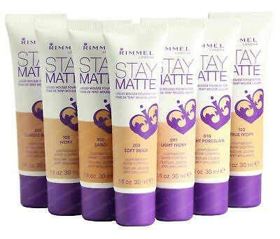 3 x Rimmel Stay Matte Liquid Mousse Foundation 30ml - Choose Your Shade