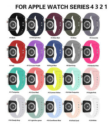 NEW Sports Silicone Nylon Milan Watch Band Strap for Apple iWatch Series 5/4/3/2