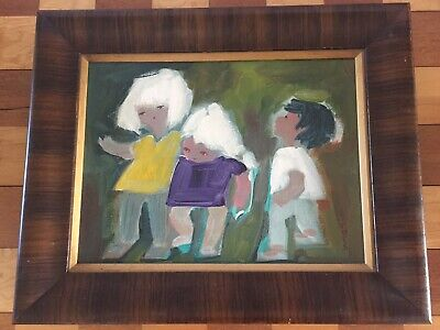 Fantastic Dorothy Wright Liebes Painting Antique Framed Vintage RARE