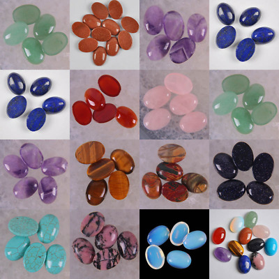 20pc Natural Stone Agate Bead Oval CAB GEM Cabochon for Jewelry Making 18x13x6mm