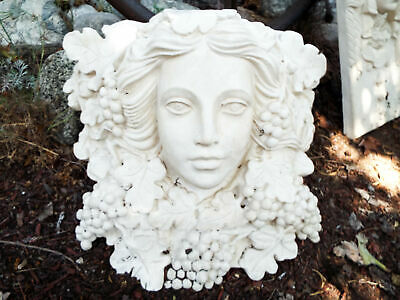 Vintage Plaster French Art Nouveau Lady Style Corbel Decorative Wall Garden Art