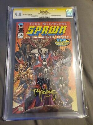 Spawn #220 Youngblood Variant Cover CGC 9.8 SS Signed by TODD MCFARLANE!!