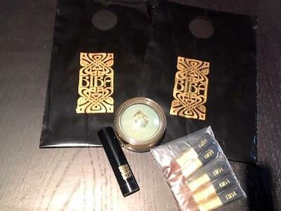 Vintage Biba Mini Shopping Bag, Powder Tint, Rusk Eye Shadow, 5 Make-Up Brushes