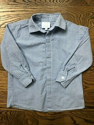Little English Boy Blue Gingham Collared Button-Down Dress Shirt Southern 2T