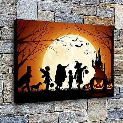 """16""""x24""""Halloween Castle HD Canvas print Painting Home Decor Picture Wall art"""