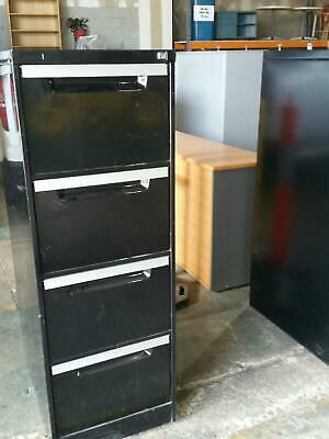 Filing Cabinet - Metal Black 4 Drawer