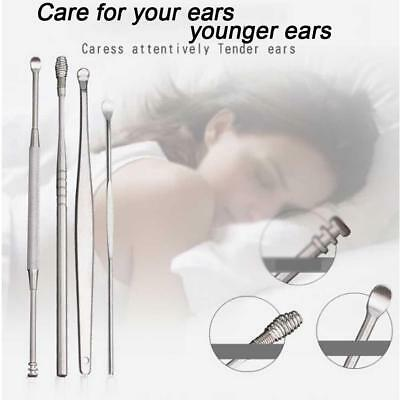 5pcs/set Curette Ear Pick Wax Remover Care Tool EarPick Stainless Steel Cleaner