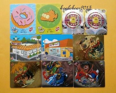 Group of Simpsons Bowl-A-Rama Tazo Twisties 2005 cards