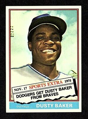 1976 Topps Traded #28T Dusty Baker Los Angeles Dodgers Baseball Card NM